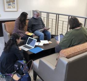 faculty analyzing data